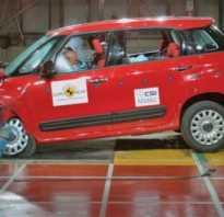 Краш- тест Fiat 500L (2014), боковой удар