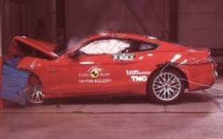 Краш- тест Ford Mustang convertible (2010- 2013), боковой удар