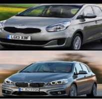 BMW 2-Series Active Tourer против Kia Carens MPV