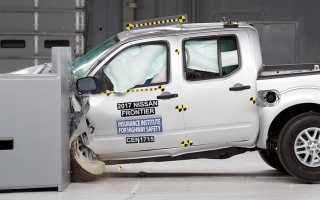 Краш- тест Nissan Frontier (2013)